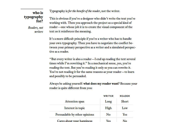 Screenshot aus 'Butterick´s Practical Typography'